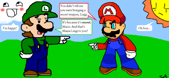 Mama Luigi Meme - mario and luigi argue collab by not wisqoxd on deviantart