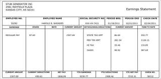 Excel Paystub Template Pay Stub Template Free Word Pdf Excel Format Documents