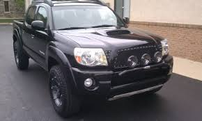 tacoma grill light bar westin light bar hella black magic lights and n fab black mesh grill