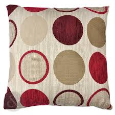 40x40 Cushion Insert Just Contempo Chenille Spot Cushion Cover Red 17x17 Inches