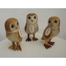 dcuk carved barn owl wood carvings by the duck company