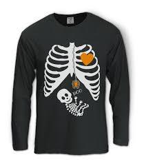 Boys Skeleton Halloween Costume Pregnant Skeleton Halloween Costume Long Sleeve Shirt Boy