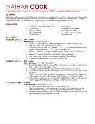 Resume Examples For Restaurant best restaurant bar shift leader resume example livecareer