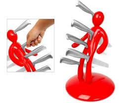 Red Kitchen Knife Block Set by Knife Block Sets