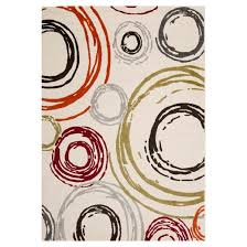 Area Rugs With Circles Circles Area Rug Ivory 6 U00277