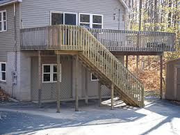 Deck Stair Handrail How To Build Handrails For Second Floor Deck Stairs