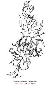 Thai Flower Tattoo Designs Koi And Lotus Flowers From My Coloring Book Tattoo Designs