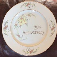 25th anniversary plates 25th wedding anniversary ebay