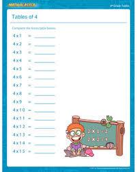 tables of 4 u2013 free times table pdf for 3rd grade u2013 math blaster