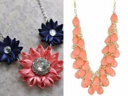 coloured flower necklace images Which color jewelry goes with dark blue dresses everafterguide jpg