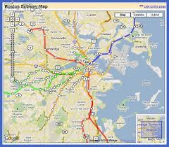 map of boston subway boston subway map map travel vacations