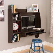 Office Desk With Shelves by Prepac Espresso Floating Desk With Storage And Keyboard Tray