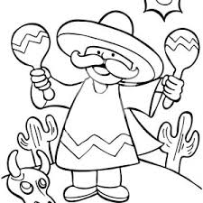 mexican man shaking maracas mexican fiesta coloring