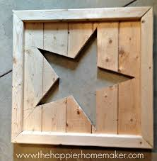 How To Build A Shed Out Of Wood by Pottery Barn Inspired Cut Out Wood Star Art The Happier Homemaker