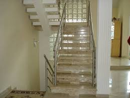 Basta Escada de Mármore Travertino Centro - Escada de Granito Travertino  @KH23
