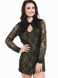 dresses club and party dresses lacey long sleeve cocktail dress