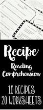 recipe reading comprehension life skills and functional literacy