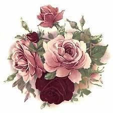 burgundy roses 1 light pink and burgundy flowers 5 1 2 waterslide ceramic