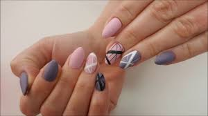 mate lines nail art design matowe linie na paznokciach youtube