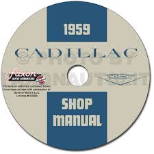 1959 cadillac repair shop manual original