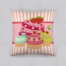 dream fun home decor decorative pillows accent sears dream fun home decor pink strawberry cupcakes decorative pillow