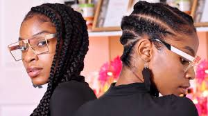 how many bags for big box braids jumbo lemonade braids tutorial large feed in braids to the side