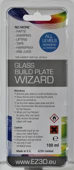glass build plate wizard 3d printer adhesive spray 100ml ez3d