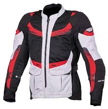 discount motorcycle gear macna furio textile jackets silver black red men s clothing macna