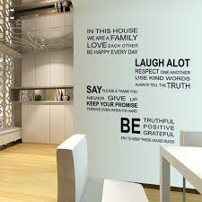 home decor rules love family rules removable decal mural home decor quote wall
