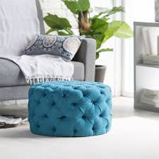 belham living allover tufted round ottoman teal perhaps if
