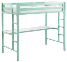 bentley twin metal loft bed with workstation contemporary loft