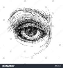 eye realistic sketch not autotraced stock vector 68851684