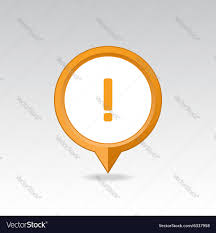 Map Icon Warning Attention Exclamation Mark Pin Map Icon Vector Image