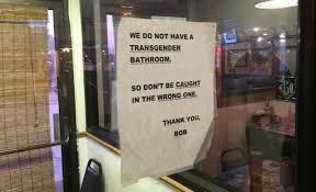trans advocate bathroom sign u0027opportunity to educate u0027 nondoc