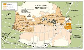 Map Of Burgundy France by Montrachet