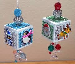 diy adorable dollar tree alphabet block ornaments for christmas
