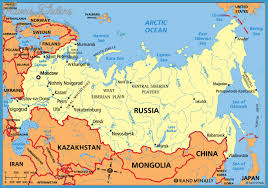 russia map russia map travelsfinders