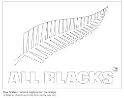 all blacks new zealand rugby team logo coloring pages countries