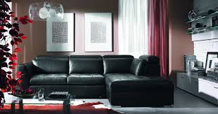 Living Room Ideas With Black Leather Sofa Black Leather Sofa With Glass Table Also White Wooden Cabinet On