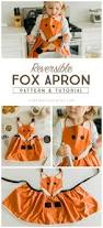 fox apron tutorial and pattern free pattern apron and foxes