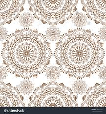 seamless henna brown pattern mandala mehndi stock vector 548772178
