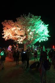 tree of ténéré responds to burning attendees with light patterns