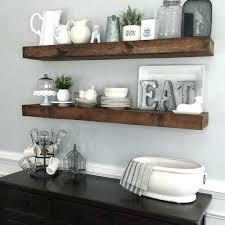 shelves floating shelf height kitchen floating wooden shelves