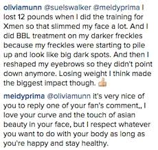 olivia munn is taking a turn explaining her face to everyone