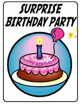 surprise birthday party printable invitations
