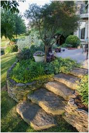 backyards fascinating sloping backyard landscaping ideas