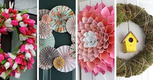 springtime wreaths 9 exles of springtime wreaths to make for your home contemporist