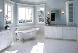 bathroom decor ideas blue and brown bathroom design