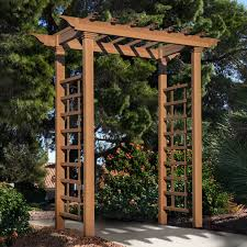 arboria astoria 7 ft cedar pergola arbor hayneedle