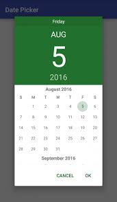 android color use datepicker on android change theme and color tutorial